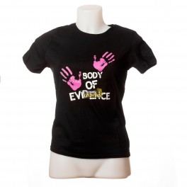 "T-Shirt Black ""Body of evidence"""